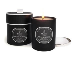 """Vonná svíčka """"Black Magic Cedar Vetiver"""", Ø 8, výš. 9 cm"""