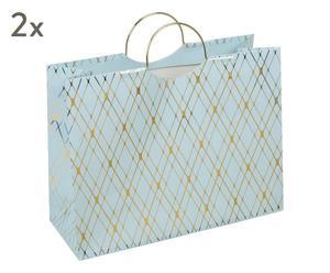"""Sada 2 dárkových tašek """"Stockholm"""", 12,5 x 33 x 25,5 cm"""