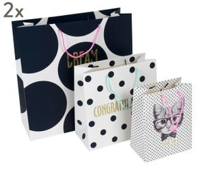 """Sada 6 dárkových tašek """"Love Dots"""""""