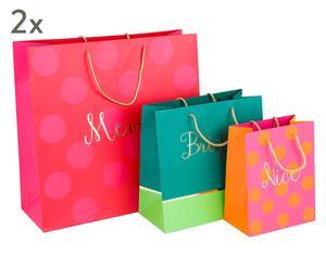 """Sada 6 dárkových tašek """"Bright"""""""