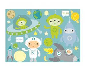 Wandsticker Spacekids