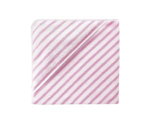 Kapuzenhandtuch, 80 x 80 cm, weiß-rosa-gestreift