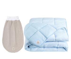 Baby-Set Blue-Beige, 2-tlg.