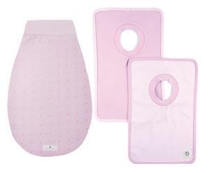 Strampelsack-Set Rosé Dots, 0 - 6 M, 2-tlg.