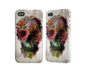 iPhone-Hülle Totenkopf Bunt