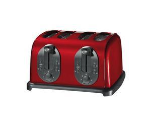 4-Scheiben-Toaster mit Bagelfunktion