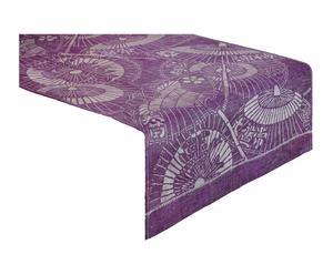 Tischläufer Japan Schirm, purpur-weiß