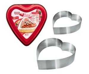 Herz-Tortenformen-Set Sweetheart, 3-tlg. Ø 24 cm, Ø 21 cm und Ø 12 cm