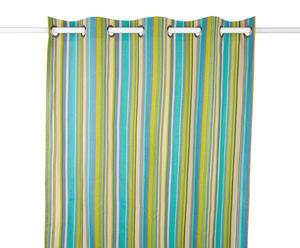 Vorhang Melodie, 140 x 280 cm, blau/grün