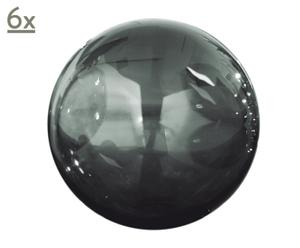 Glaskugeln Globus, 6 Stück