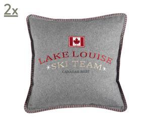 Kissenbezüge LAKE LOUISE, 2 Stück, 50 x 50 cm
