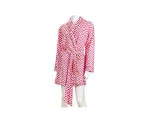 Morgenmantel Molly mit Reisebeutel, pink, Gr. M/L