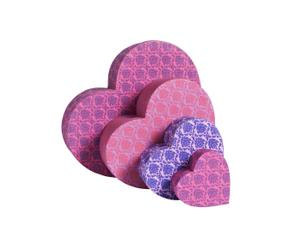 Boxen-Set Hearts, 4-tlg.