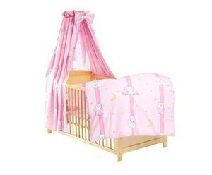 Kinderbettausstattung Kuschel-Eisbär, 4-tlg., rosa