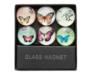 Glasmagnet-Set BUTTERFLY MINI, 6-tlg.
