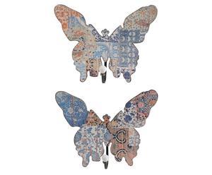 Wandgarderobe Mariposa, 2 Stück