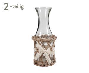 Deko-Flaschen-Set SINCLAIR, 2-tlg.
