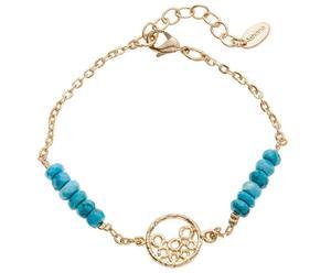Vergoldetes Armband Ella mit Türkisen