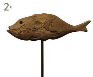Deko-Fische MACOUBA, 2 Stück