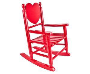 Kinder-Schaukelstuhl Leah, rot