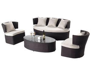 Lounge-Set Glencore inkl. Polster, 4-tlg.