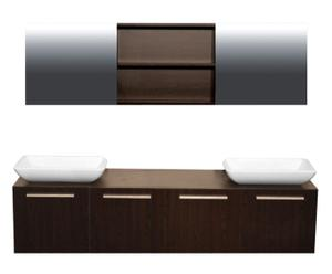 Badezimmer-Set Exclusive Wenge I, 4-tlg.