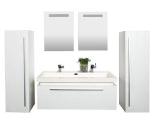 Badezimmer-Set Exclusive White, 6-tlg.