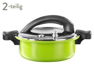 Energiespartopf Gaudy, grün/schwarz, 2-tlg, 4 l