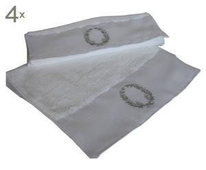 Gästehandtücher Claneboye, weiß/grau, 30 x 50 cm