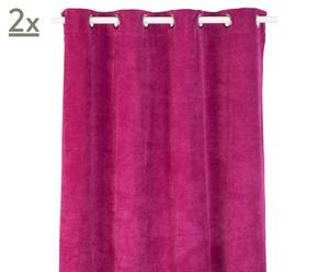 Vorhänge Pagode, pink, 140 x 245 cm, 2 Stück