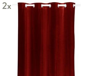 Vorhänge Luciano, 2 Stück, rot, 140 x 245 cm