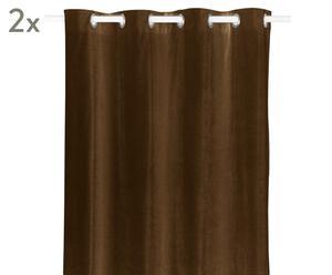 Vorhänge Luciano, 2 Stück, hellbraun, 140 x 245 cm