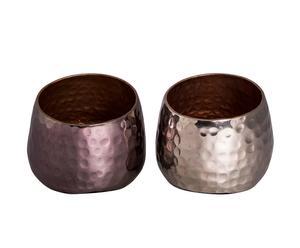 Teelichthalter-Set Hadley, 2 Stück