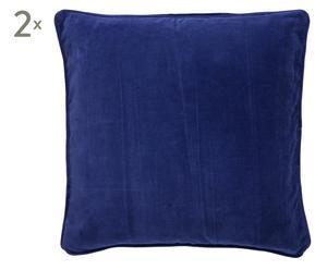 Kissenhüllen SADRI, 2 Stück, indigo, 50 x 50 cm