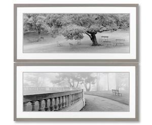 Gerahmte Wandbilder LAKESIDE, 2 Stück, 45 x 95 cm