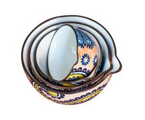 Keramikmessbecher-Set Paisley,<br>4-tlg.