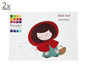 Wandaufkleber-Set LITTLE RED, 26-tlg.