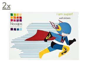 Wandaufkleber-Set I AM SUPER, 26-tlg.