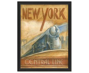 Fineart-Druck New York Central Line, B 30 x H 40 cm