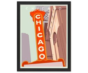Fineart-Druck Art déco Chicago, B 30 x H 40 cm