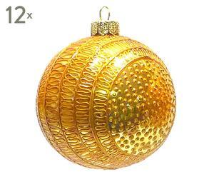 Weihnachtskugeln Focca, 12 Stück, Ø 8 cm