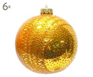 Weihnachtskugeln Focca, 6 Stück, Ø 10 cm