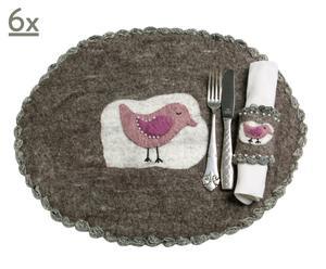 Tischsets Bird, 6 Stück