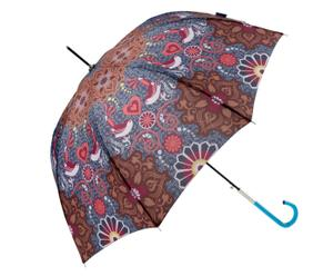 Automatik-Regenschirm Grace, blau/braun