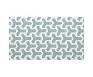 Teppich CLASSICO, weiß/türkis, 150 x 200 cm