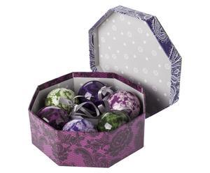 Geschenkbox Flourish mit Weihnachtsbaumkugeln, 6-tlg.