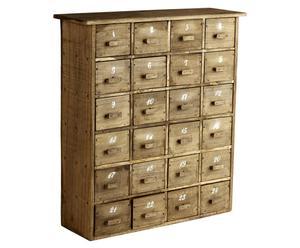 Kommode Adventarius mit 24 Schubladen, H 42 cm