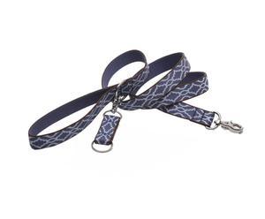 Hundeleine Agra, blau, B 1,5 cm, Länge 122 cm