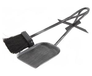 Kaminbesteck-Set Alan, 2tlg., H 35 cm