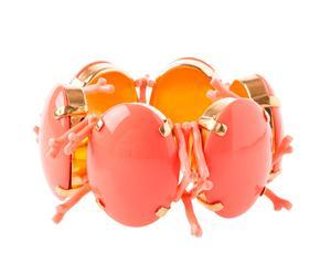 Vergoldetes Stretch-Armband CORALLERIE, korallfarben